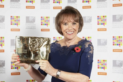 Esther Rantzen and Gold Plato